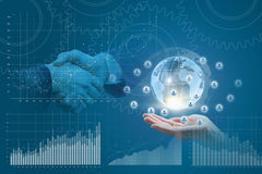 Samenwerking in bedrijfsnetwerken vector illustratie