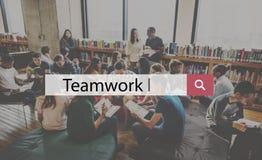 Samenwerking Collectief Conc Team Building Support Help Teamwork stock afbeeldingen