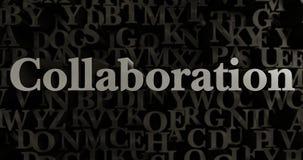 Samenwerking - 3D teruggegeven metaal gezette krantekopillustratie royalty-vrije illustratie