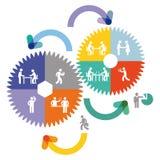 Samenwerking en groepswerk royalty-vrije illustratie