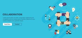 Samenwerking en samenwerking Groepswerkstrategie in zaken vector illustratie