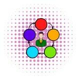 Samenwerking, groepswerk, vennootschappictogram royalty-vrije illustratie
