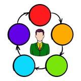 Samenwerking, groepswerk, vennootschappictogram stock illustratie