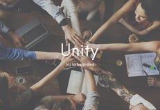 Samenwerking Team Concept van de eenheids de Communautaire Verbinding Stock Afbeelding