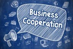Samenwerking tussen bedrijven - Bedrijfsconcept royalty-vrije illustratie