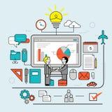 Samenwerking tussen bedrijvenconcept stock illustratie