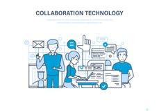 Samenwerkingstechnologie Samenwerking, vennootschappen, groepswerk, verkoop, onderzoek en marketing royalty-vrije illustratie