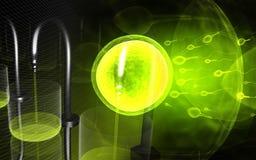Samenzellen des Menschen und der Laborausrüstung Stockfoto