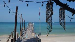 酸值的Samet,可爱的海岛一点天堂在泰国 免版税库存照片
