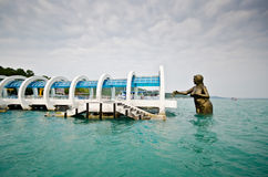 Samet Island Port. With  Giant monument Stock Photography