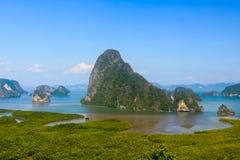 Samet-Nang Ona punktów widzenia południe Tajlandia Obrazy Stock