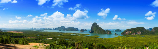 Samet Nang Shee, unseen viewpoint in Thailand Royalty Free Stock Image