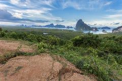 Samet-nang-zij mooi landschaps nieuw oriëntatiepunt in Phang-Thaise nga, Stock Foto's