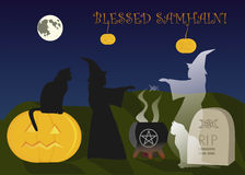 Samhain和不朽的友谊 向量例证