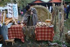Samhain festivities. Historical reenactment of Samhain festivities, the Celtic New Year party held 28 to 31 October 2016 Motta Visconti, Lombardia, Italy Royalty Free Stock Photo