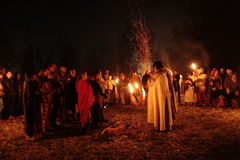 Samhain festligheter royaltyfria bilder