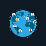 Samhällemedlemmar befolkning modernt samhälle eller globalt nätverk Co Fotografering för Bildbyråer