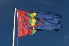 Sami eller Sapmi flagga Royaltyfri Fotografi