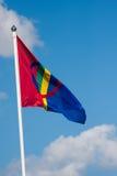 Sami flag. Flag of the sami people Stock Image