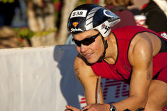 Sami Inkinen Racing in the Arizona Ironman Triathl Royalty Free Stock Photos