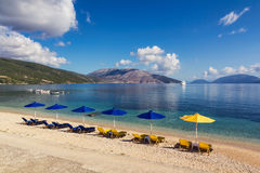 Sami Kefalonia Greece. Calm beach in Sami, Kefalonia, Greece Royalty Free Stock Photos
