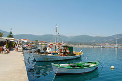 Sami Quayside. View of the quayside in Sami, Kefalonia Royalty Free Stock Image