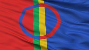 Sami Scandinavia Flag Closeup View lizenzfreie abbildung