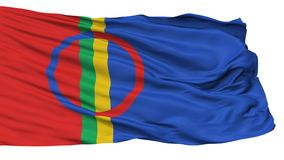 Sami Scandinavia Flag, isolato su bianco illustrazione vettoriale