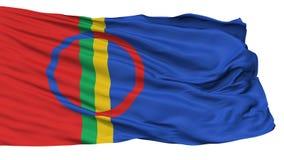 Sami Scandinavia Flag, lokalisiert auf Weiß vektor abbildung