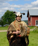 Sami shaman. From Finnish Lapland Stock Photos