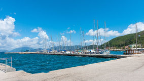 Sami Town and Harbor Royalty Free Stock Images