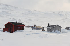 Sami village. Small Sami village in winter, near the Kungsleden trail Royalty Free Stock Image