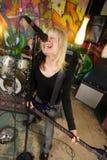 samica bass zawodnika krzyczeć fotografia royalty free