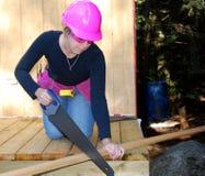 samica pracowników budowlanych obraz stock