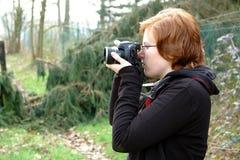 samice fotografów young Obraz Stock