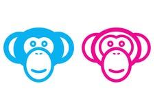 samiec żeńska małpa Fotografia Royalty Free