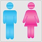 samiec żeński znak Zdjęcia Royalty Free