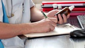 Samiec doktorskiego writing medyczna recepta lub świadectwo zbiory