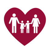 Rodzina i serce Obrazy Stock