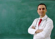 Samiec lekarka jest uśmiechnięta Fotografia Royalty Free