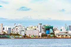 SAMIEC MALDIVES, LISTOPAD, -, 27, 2016: Widok miasto samiec obraz stock