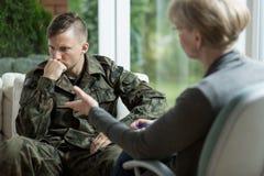 Samiec w wojsko mundurze Obraz Stock