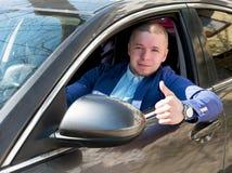 samiec z samochodem Fotografia Royalty Free