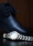 Samiec but z zegarkiem Fotografia Stock