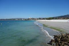 Samil beach, Vigo Spain Stock Photos