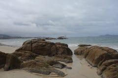 Samil beach, Vigo Spain Royalty Free Stock Photo