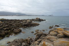 Samil beach, Vigo Spain Stock Photography