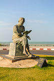 Samila Beach Songkhla. Samila Beach is an icon of the city of Songkhla, famous symbol is a golden statue of a mermaid Royalty Free Stock Image