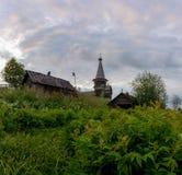 Saminski церковный двор деревни Зона Vologda Россия Стоковая Фотография RF