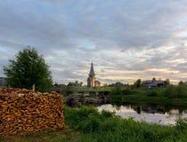 Saminski la cimetière de village La Russie Russie Image libre de droits